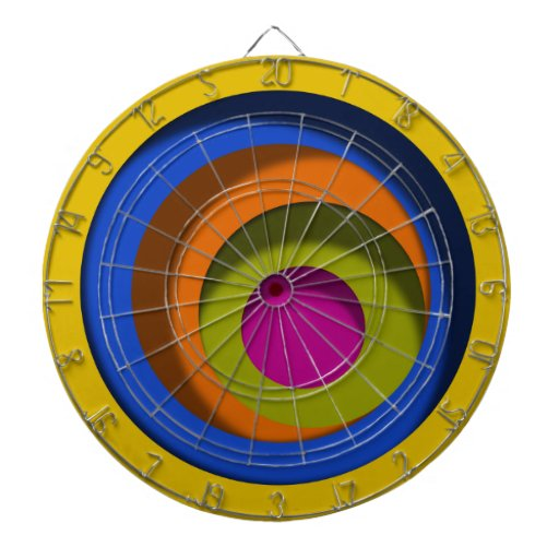 Whacky Circles Dimensional Look Dartboard