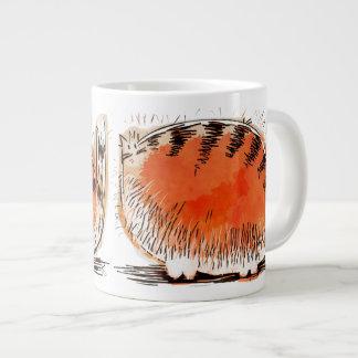Whacky orange cartoon cat jumbo mugs