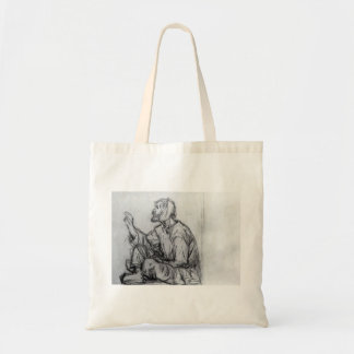 Whacky, seated on the ground by Vasily Surikov Canvas Bags