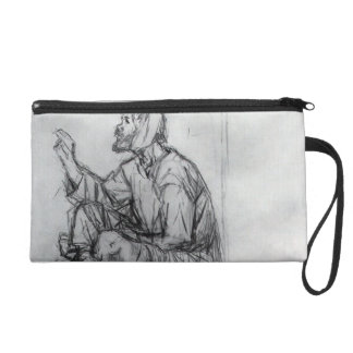 Whacky, seated on the ground by Vasily Surikov Wristlet Clutch