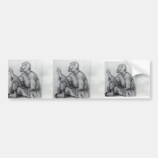 Whacky, seated on the ground by Vasily Surikov Bumper Stickers