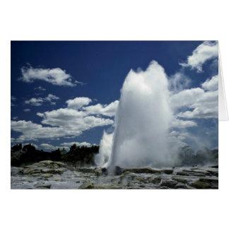 Whakarewarewa, Pohutu geyser, Rotorua, New Zealand Card