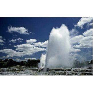 Whakarewarewa, Pohutu geyser, Rotorua, New Zealand Standing Photo Sculpture