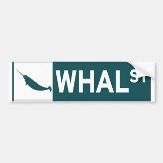 Whal Street Bumper Sticker