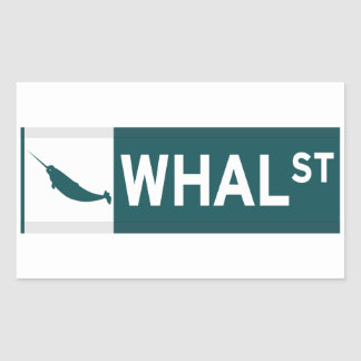 Whal Street Rectangular Sticker