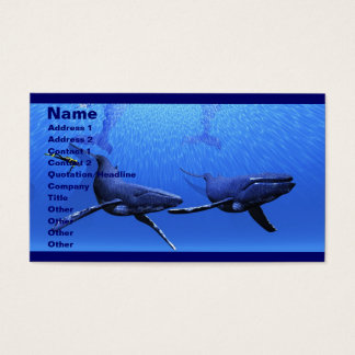 Whale 01 Business Card