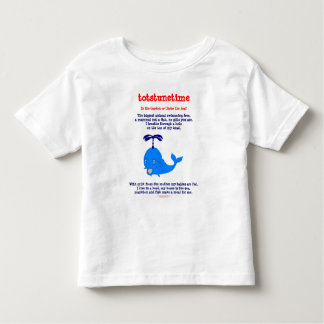 Whale 1, In the Garden or Under the Sea?, totst... Toddler T-shirt
