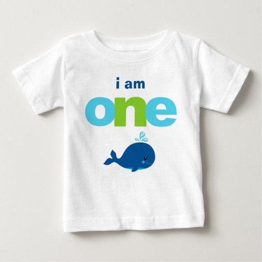 Whale 1st Birthday T Shirt Toddler Baby Kid
