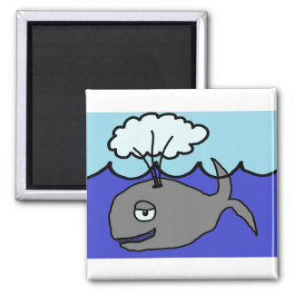 Whale 2 Inch Square Magnet