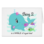 Whale 2nd Birthday Greeting Cards