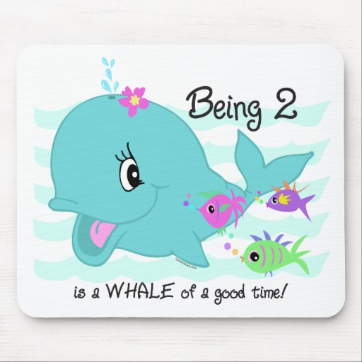 Whale 2nd Birthday Mouse Pads
