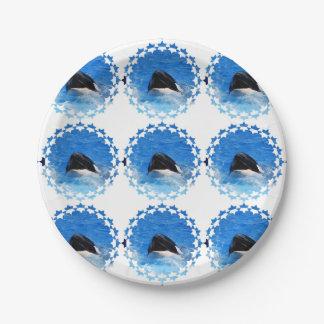 whale-51 platos de papel