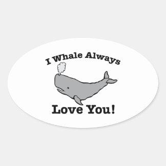Whale Always Oval Sticker