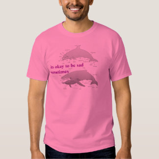 Whale anatomy with tip t-shirt