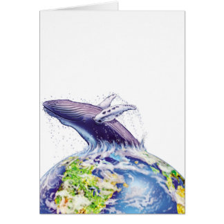 whale and earth design cards