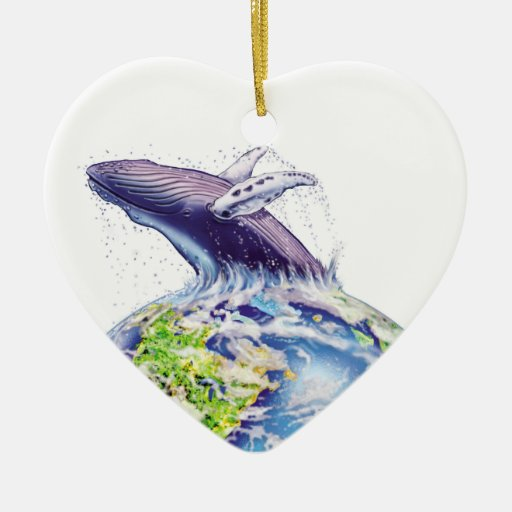 whale and earth design christmas ornaments