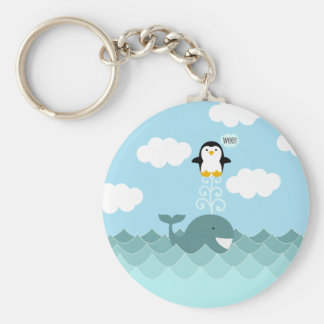 Whale and Penguin Best of Friends Keychain