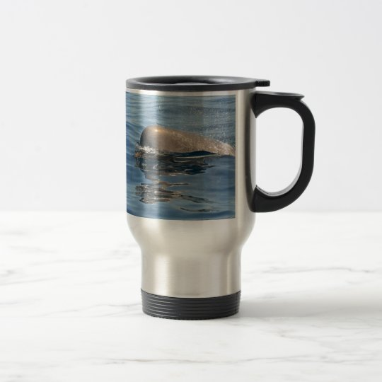 Whale and Reflection Travel Mug
