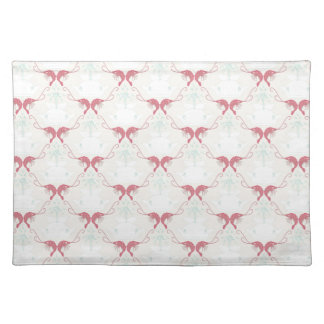 Whale and Shrimp Damask Placemat