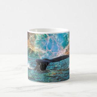 Whale and Supernova Classic White Coffee Mug