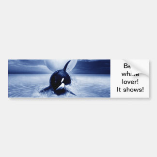 Whale and the moon in 2012 bumper sticker