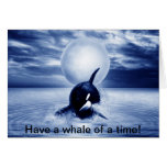 Whale and the moon in 2012 greeting cards