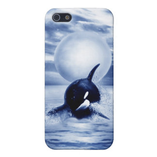 Whale and the moon in 2012 iPhone SE/5/5s cover