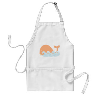Whale and Waves Adult Apron