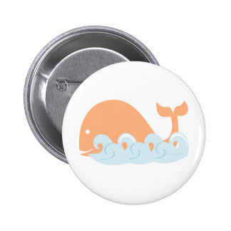 Whale and Waves Button