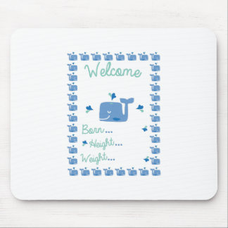 Whale Announcement Mouse Pad