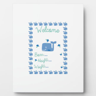 Whale Announcement Display Plaque
