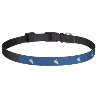 Whale at the sea pet collar