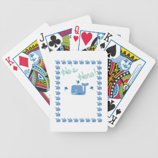 Whale Baby Announcement Bicycle Playing Cards