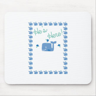 Whale Baby Announcement Mouse Pad