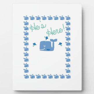 Whale Baby Announcement Plaque