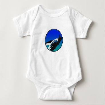 Beach Themed Whale Baby Bodysuit