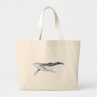 whale baby fond transparent large tote bag