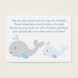 Whale Baby Shower Book Request Cards