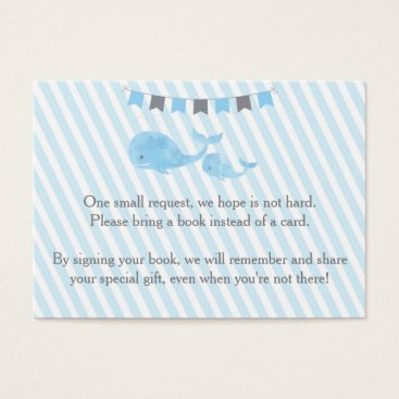 Toddler & Baby themed Whale Baby Shower Bring a Book Insert