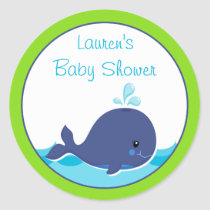 Whale Baby Shower Favor Stickers