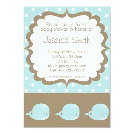 whale baby shower invitation zazzle