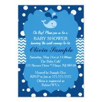 Whale Baby Shower Invitation, Nautical Baby shower Invitation