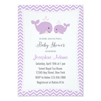 Baby Whale Baby Shower Invitations Announcements Zazzle