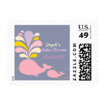 Whale baby shower postage