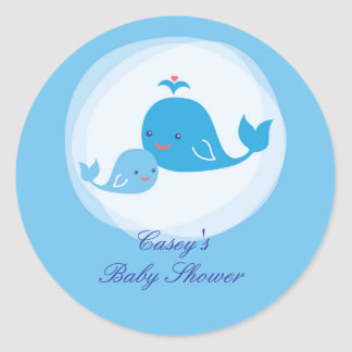 Whale Baby Shower Sticker