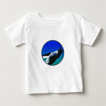 Beach Themed Whale Baby T-Shirt
