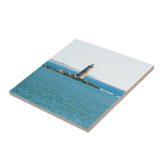 Whale Back Lighthouse Ceramic Tile