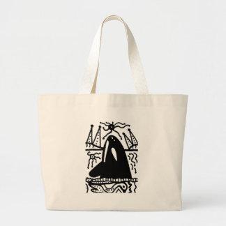 whale canvas bag