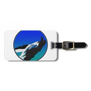 Beach Themed Whale Bag Tag