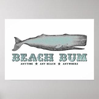 Whale Beach Bum Poster